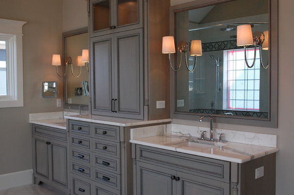 Traditional Bathroom by Amy Tyndall Design