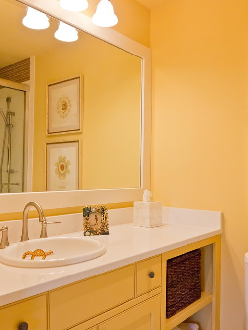 Bathroom Decor With Yellow Walls : Bathroom design ideas renovations photos with yellow