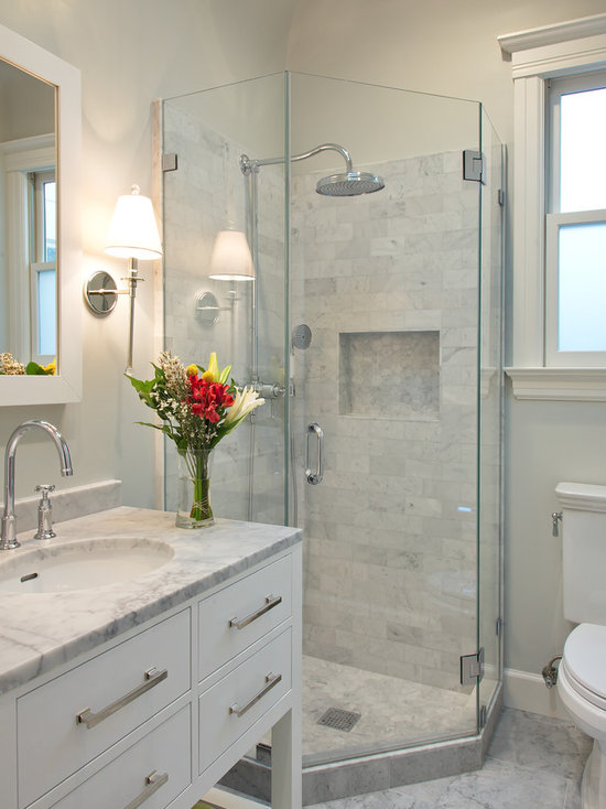 Bathroom Remodel Corner Shower corner shower design ideas, remodels & photos