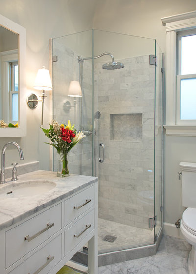 Transitional Bathroom by Studio G+S Architects