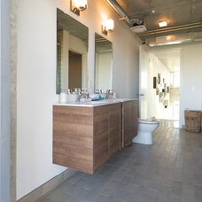 Industrial Bathroom by Danna B Interiors, LLC