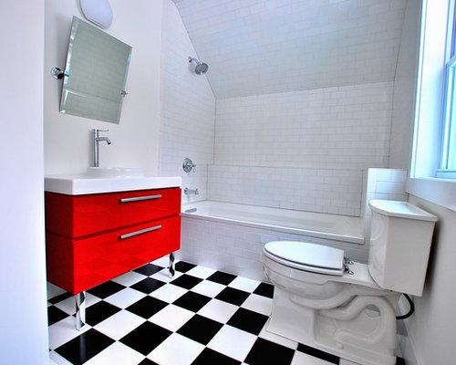 sloped ceiling bath houzz. Black Bedroom Furniture Sets. Home Design Ideas