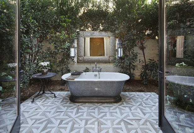 Mediterranean Bathroom by Jeri Koegel Photography