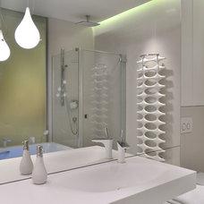 Modern Bathroom by Planika Fires