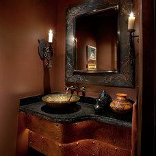 Southwestern Bathroom by Sonoran Classic Builders