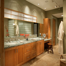 Modern Bathroom by Sandella Custom Interiors, LLC