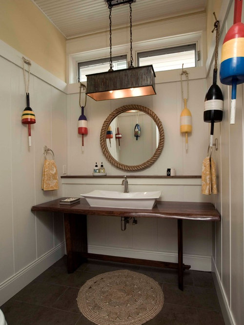 Mirror nautical bathroom design ideas remodels photos for Bathroom ideas nautical