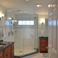 Traditional Bathroom by Transforming Architecture LLC