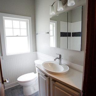 Bathroom - small craftsman 3/4 bathroom idea in Other