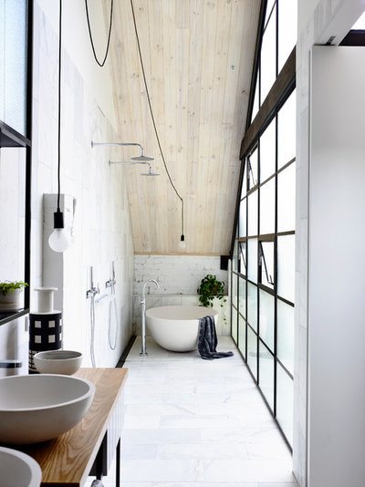 Industrial Bathroom by Architects EAT