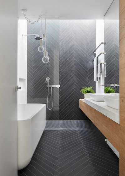 Contemporary Bathroom by MMAD Architecture