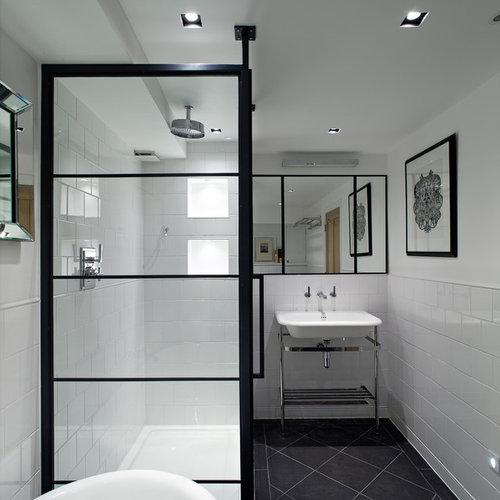 Black Shower Frame Design Ideas Amp Remodel Pictures Houzz