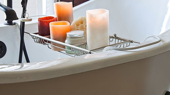 Flameless Candles and Clawfoot tub