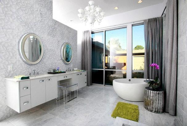 Modern Bathroom by Brandon Construction Co. Inc.