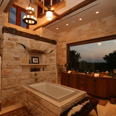 Rustic Bathroom by John Lively & Associates