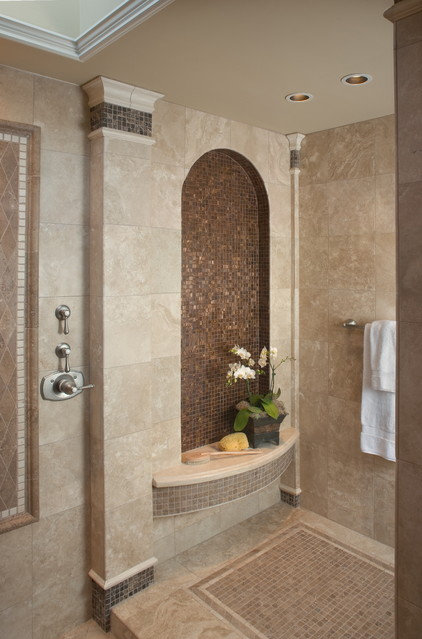 mediterranean bathroom by James Patrick Walters