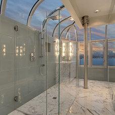 Modern Bathroom by Creative Kitchens & Baths Seattle LLC