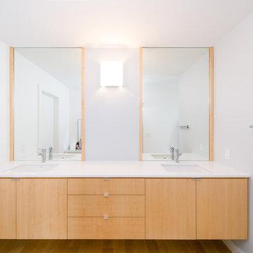 floating master bath vanity