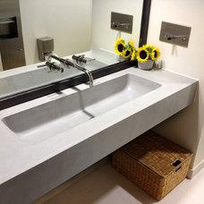 Contemporary Bathroom by Trueform Concrete