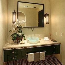Mediterranean Bathroom by VIEJO TILE & STONE