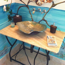 Tropical Bathroom by Corry's Creations and Construction