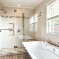 Transitional Bathroom by Colella Construction Inc,  Kitchen and Bath