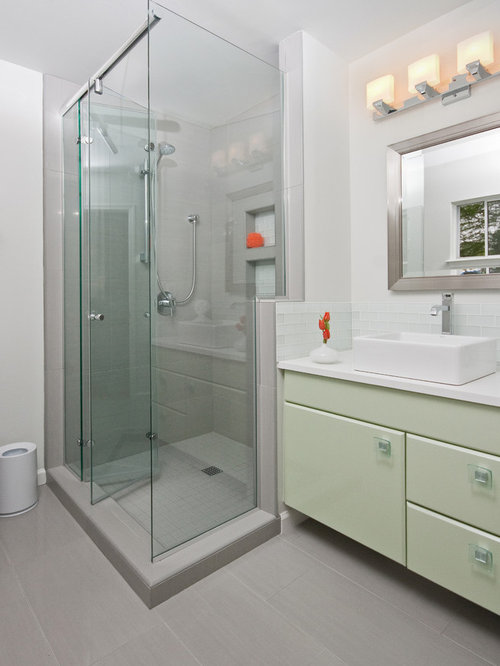 frameless kitchen cabinets vanity next to shower houzz 1053