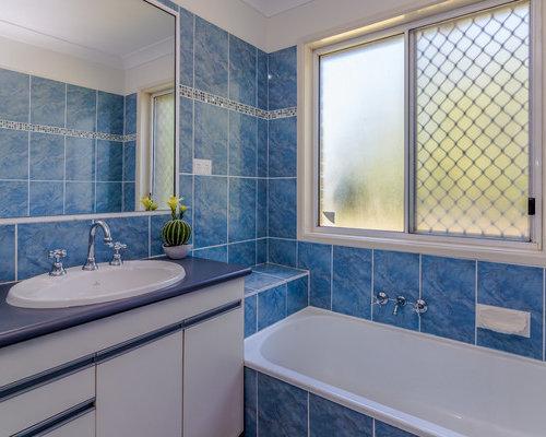 brisbane bathroom design ideas renovations photos with pebble tile
