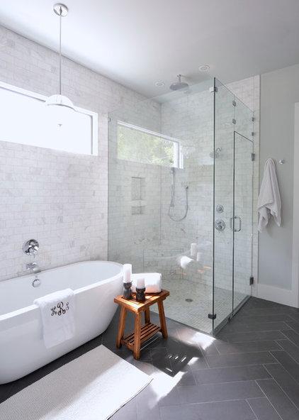 Transitional Bathroom by Lilli Design