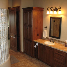 Transitional Bathroom by Castle Kitchens and Interiors