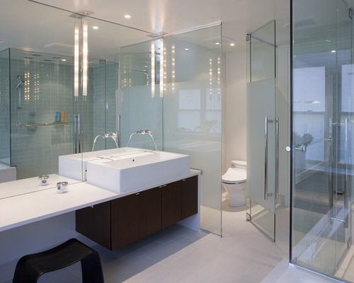 Inspiration For A Modern Bathroom Remodel In DC Metro With A Vessel Sink
