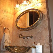 Eclectic Bathroom by Meyer Design