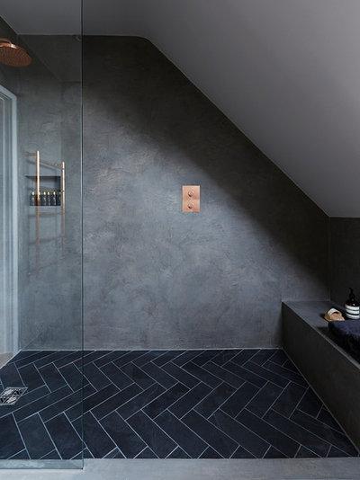 Industrial Bathroom by Cherie Lee Interiors