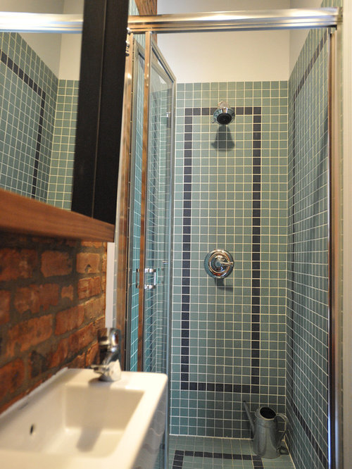 Basement stone shower eclectic bathroom minneapolis by - Small Eclectic Shower Room Design Ideas Renovations Amp Photos