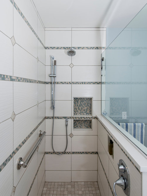 Traditional shower niche bathroom design ideas remodels for Bathroom ideas 5x12