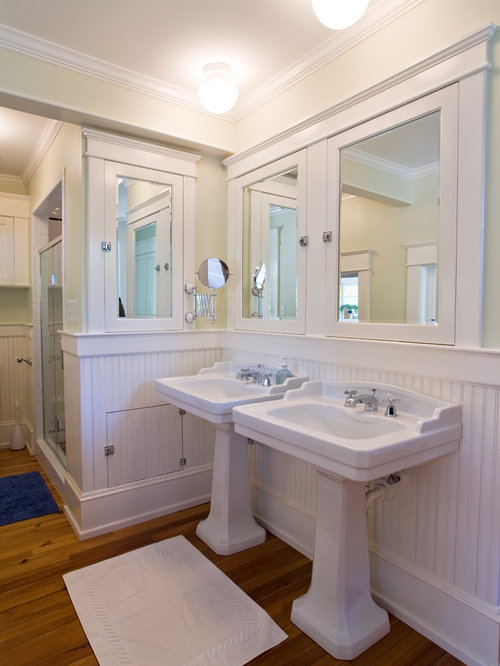 609 hide plumbing pipes behind pedestal sink Bathroom Design Photos