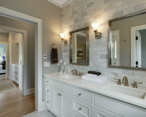 Bathroom ideas photos with beaded cabinets and a two for Two piece bathroom ideas