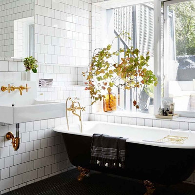 Eclectic Bathroom by Context Design and Build