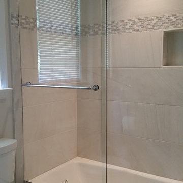 Frame-less Sliding Glass Tub Door & Panel Enclosure