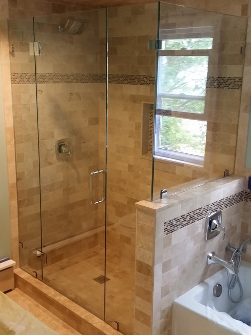 Frameless Corner Glass Showers