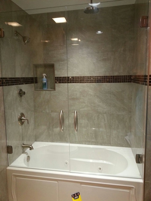 shower bathroom design ideas remodels photos with a hot tub and a