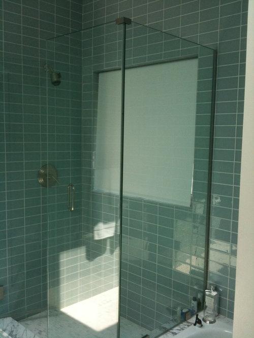 Green Glass Shower Tile