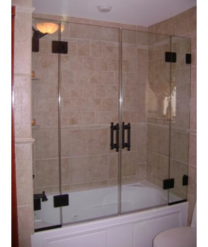 Contemporary Bathroom by Mirage Shower Doors Corp.