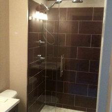 Modern Shower Doors by John A Tallarida Glass & Mirror
