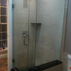 Modern Bathroom by John A Tallarida Glass & Mirror