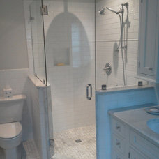 Traditional Bathroom by Lowcountry Glass & Shower Door LLC