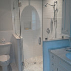 Frameless Shower Doors Contemporary Bathroom