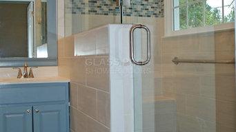 Frameless Shower Enclosure in Kennesaw