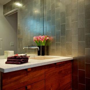75 beautiful mid-century modern mosaic tile floor bathroom