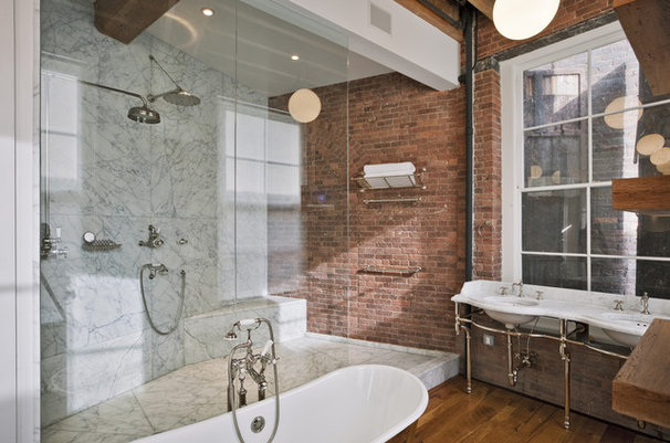 Industrial Bathroom by Jane Kim Design